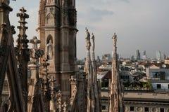 Ansicht von Mailand vom Dach des Kathedrale Duomo stockfoto