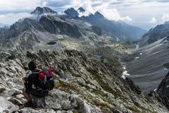 Ansicht von Mala Vysoka-Gipfel stockfotografie