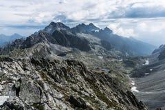 Ansicht von Mala Vysoka-Gipfel lizenzfreie stockbilder