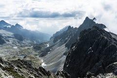 Ansicht von Mala Vysoka-Gipfel stockfoto
