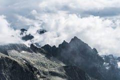 Ansicht von Mala Vysoka-Gipfel stockbild