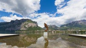 Ansicht von Malgrate Stockbild