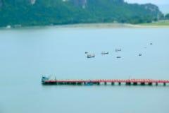 Ansicht von Manao Ao in Prachuap Khiri Khan stockfoto