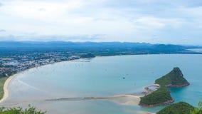 Ansicht von Manao-Bucht lizenzfreies stockfoto