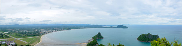 Ansicht von Manao-Bucht stockbilder