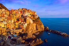 Ansicht von Manarola, Cinque Terre, Italien Lizenzfreies Stockfoto