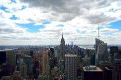 Ansicht von Manhattan lizenzfreies stockbild