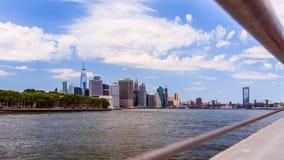 Ansicht von Manhattan-Brücke von DUMBO lizenzfreie stockbilder