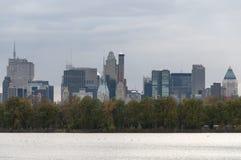 Ansicht von Manhttan-Gebäuden vom Central Park, New York Lizenzfreies Stockbild