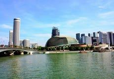 Ansicht von Marina Bay stockbild