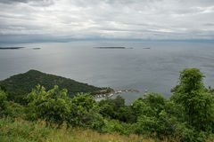 Ansicht von Marineland-Hafen am See Kariba Lizenzfreies Stockbild
