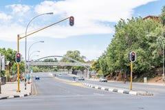 Ansicht von Markgraaff-Straße in Bloemfontein Lizenzfreies Stockbild