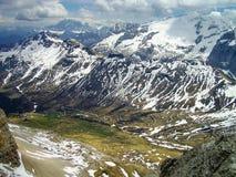 Ansicht von Marmolada-Gruppe vom Sass Pordoi, Italien, schauend Südost lizenzfreie stockfotografie