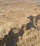 Ansicht von Masada Lizenzfreies Stockfoto