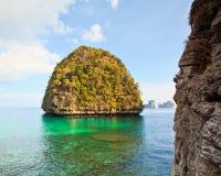 Ansicht von Maya Bay, Thailand Stockfoto