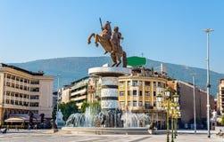 Ansicht von Mazedonien-Quadrat lizenzfreies stockfoto