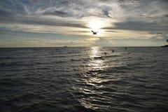 Ansicht von Meer am Abend Stockbild