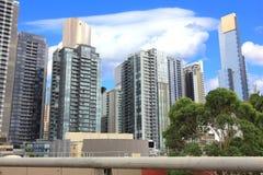 Ansicht von Melbourne-Stadt-Wolkenkratzern Lizenzfreie Stockbilder