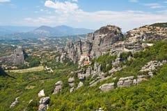 Ansicht von Meteora Lizenzfreie Stockfotos