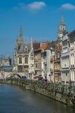 Ansicht von mittelalterlichem Gent Lizenzfreies Stockfoto