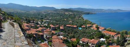 Ansicht von Molyvos-Seeseite Lizenzfreies Stockfoto