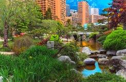 Ansicht von Monaco-Garten, Cote d'Azur Stockfotos
