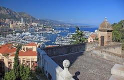 Ansicht von Monaco vom alten Kontrollturm. Stockfotografie