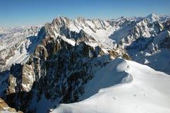 Ansicht von Mont Blanc Lizenzfreies Stockfoto