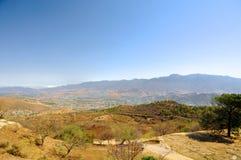 Ansicht von Monte Alban, Oaxaca, Mexiko stockfotografie