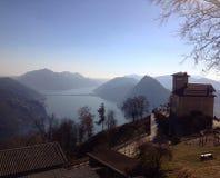 Ansicht von Monte Bré Stockfotografie
