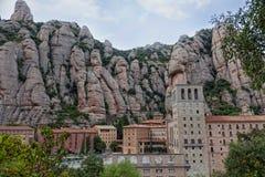 Ansicht von Montserrat Monastery. Stockfoto