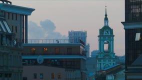 Ansicht von Moskau stock footage