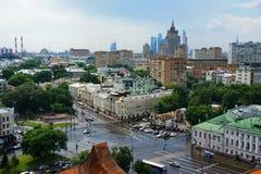 Ansicht von Moskau Stockbild