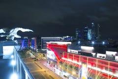 Ansicht von Moskau mit hohen Gebäuden Lizenzfreie Stockfotos