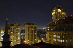 Ansicht von Moskau mit hohen Gebäuden Stockfotos