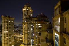 Ansicht von Moskau mit hohen Gebäuden Lizenzfreies Stockbild