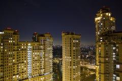 Ansicht von Moskau mit hohen Gebäuden Lizenzfreie Stockbilder