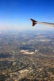 Ansicht von Moskau vom Flugzeug Stockfoto