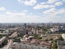 Ansicht von Moskau von der Spitze Lizenzfreie Stockfotos
