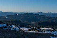 Ansicht von Mt Haube und nahe gelegene Berge Lizenzfreies Stockfoto