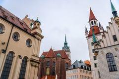 Ansicht von Munchen, Marienplatz Stockfotos