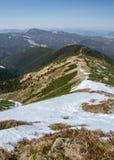 Ansicht von NÃzke Tatry niedriges Tatras in Richtung zu MestskÃ-¡ hora 1529 m, Slowakei stockbilder