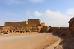 Ansicht von Narin-Schloss, der Iran lizenzfreies stockbild
