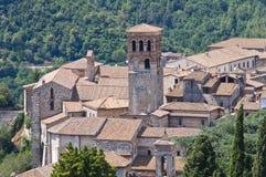 Ansicht von Narni. Umbrien. Italien. Lizenzfreies Stockfoto