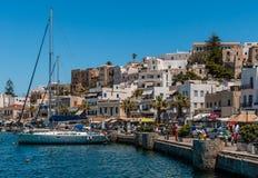 Ansicht von Naxos, Griechenland lizenzfreies stockbild