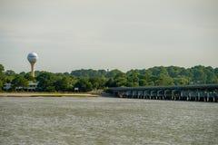 Ansicht von neaar Jagdinsel fripp Inselsouth carolina lizenzfreies stockfoto
