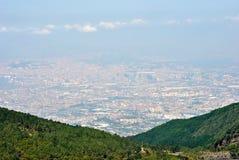 Ansicht von Neapel von Vesuv Stockbild