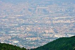 Ansicht von Neapel von Vesuv Stockfoto