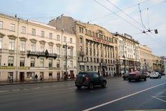 Ansicht von Nevsky-Aussicht in St Petersburg Russland Lizenzfreie Stockfotos