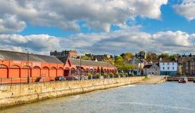 Ansicht von New-Haven Hafen in Edinburgh lizenzfreies stockfoto
